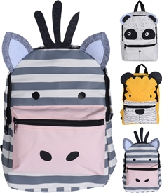 Childrens Animal Backpack 3 Assorted