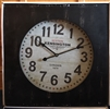 REDUCED Square Wooden Wall Clock with Black Surround