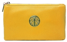 Faux Leather Body Bag - Yellow