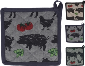 Farmyard Animal Pot Holder 3 Assorted 20cm