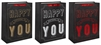 Black Happy Birthday Medium Gift Bag 3 Assorted Sold In 12's