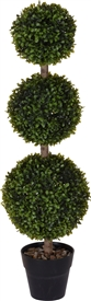 Tall Artificial Buxus In Pot 83cm