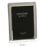 "4' x 6"" Flat Edge Silver Plated Photo Frame"