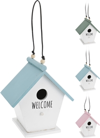 Welcome Birdhouse 3 Assorted 19cm