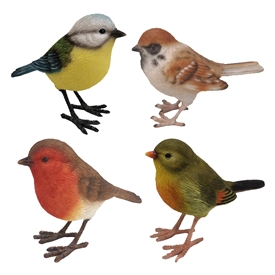 Bird Ornaments 4 Assorted