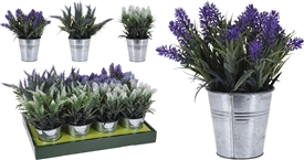 Artificiail Lavender Plant 6 Assorted