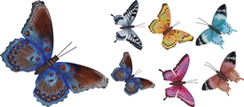 Butterfly Wall Decoration 6 Assorted