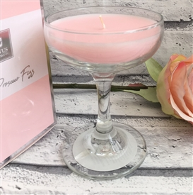 Cocktail Glass Candle – Prosecco Fizz 13cm