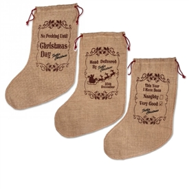 Hessian Stocking 3 Assorted