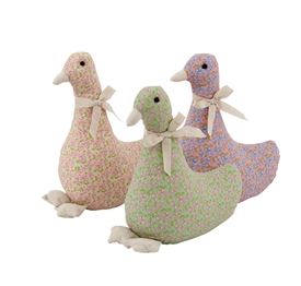 Floral Duck Doorstop 3 Assorted