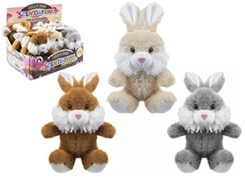 Chocolate Scented Plush Bunny 15cm 3 Assorted