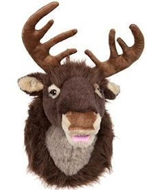 Singing Plush Reindeer Head Wall Decoration