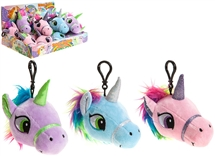 REDUCED Unicorn Head On A Clip - 3 Assorted