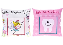 Girl Tooth Fairy Cushion 2 Assorted 18cm