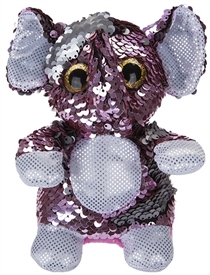 13cm Sequin Goshie Plush Colour Change Elephant