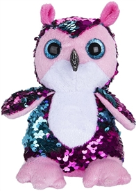13cm Sequin Goshie Plush Colour Change Owl