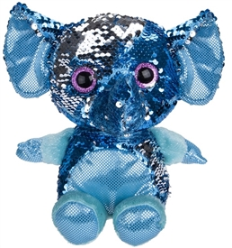 20cm Plush Goshie Sequin Colour Change Elephant