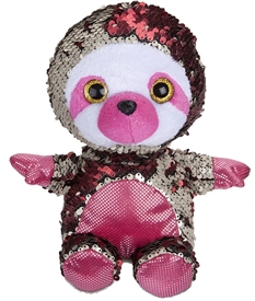 20cm Plush Goshie Sequin Colour Change Sloth
