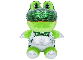 20cm Plush Goshie Sequin Colour Change Frog