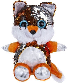 20cm Plush Goshie Sequin Colour Change Fox