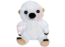 20cm Plush Goshie Sequin Colour Change Polar Bear