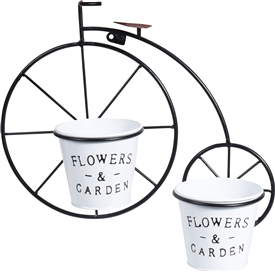 Bike Planter With 2 Pots