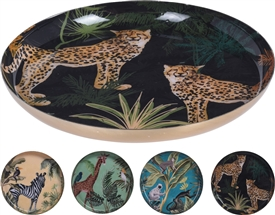 Safari Plate 4 Assorted 17cm