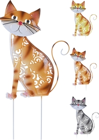 Metal Cat Garden Pick 3 Assorted