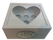 Wood Egg Box Heart Window 20cm