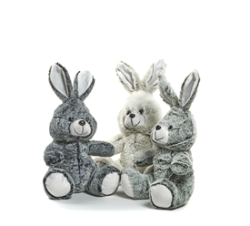 Plush Rabbit 3 Assorted 22cm