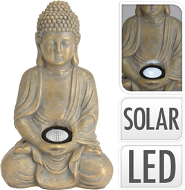 Gold Buddha Solar Light 33cm