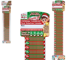 Elf Countdown And Behaviour Scratch Off Chart