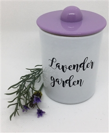 Lavender Garden Pastel Scented Glass Candle 198g