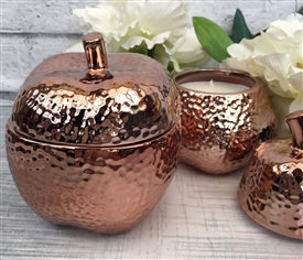 Bronzed Dimple Apple Candle