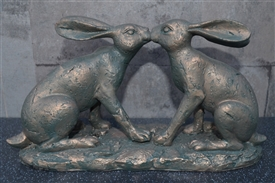 Kissing Rabbits Ornament
