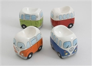 Campervan Egg Cups S/4 - Sold In 4's