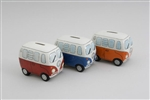 Small Campervan Money Banks - 3 Assorted 11cm
