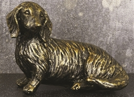 Gold Resin Dog Ornament 10cm