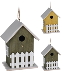 Wood Birdhouse 2 Assorted 23cm