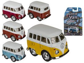 Pullback Campervan Toy 4 Assorted