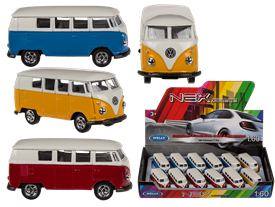 Plastic Campervan Model 3 Assorted 7.5cm