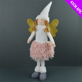 White Standing Snow Angel 43cm