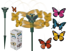 Pretty Fluttering Butterfly Solar Charged 4 Assorted 43cm