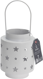Star Cut Out Design Metal Lantern 13cm