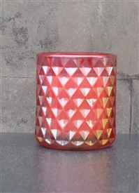 Pomegranate Candle In Embossed Glass Jar 9cm