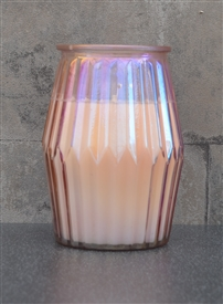 Prosecco Candle In Ridged Glass Jar 13cm