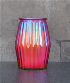 Pomegranate Candle In Ridged Glass Jar 13cm