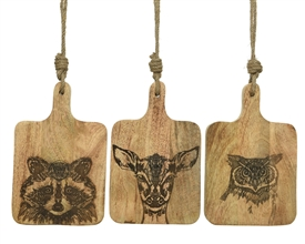 Woodland Animal Chopping Board 3 Asst