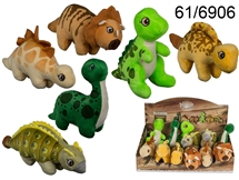 16cm Plush Dinosaur 6 Assorted