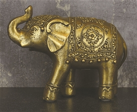 Resin Gold Elephant 15cm